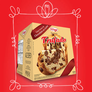 Panettone Trufado de Chocolate Village